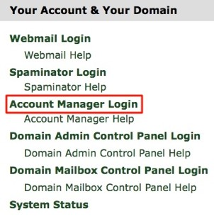 Account Manager Login Image