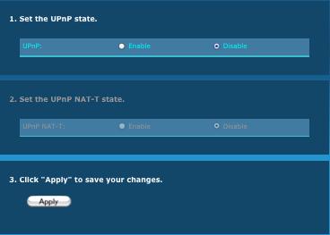 image of Set UPnP