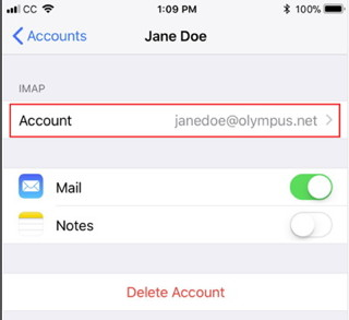 Jane Doe IMAP