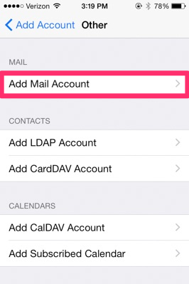 image of Add Mail Account