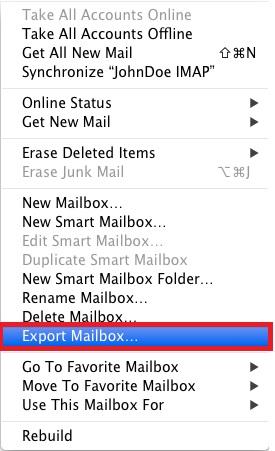 Export Mailbox
