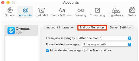 Mailbox Behaviors