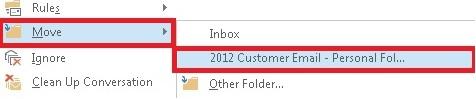 Move to folder
