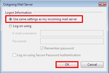 Use same settings